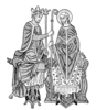 Medieval King And Bishop Image